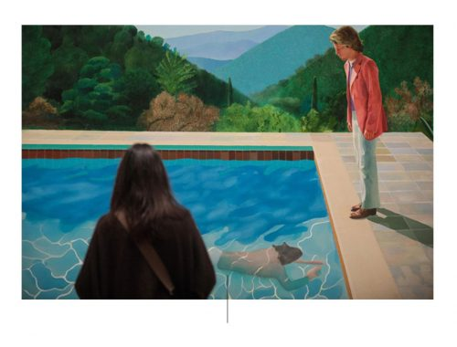 कलाकार डेविड हॉकनी द्वारा बनाई गई पेंटिंग