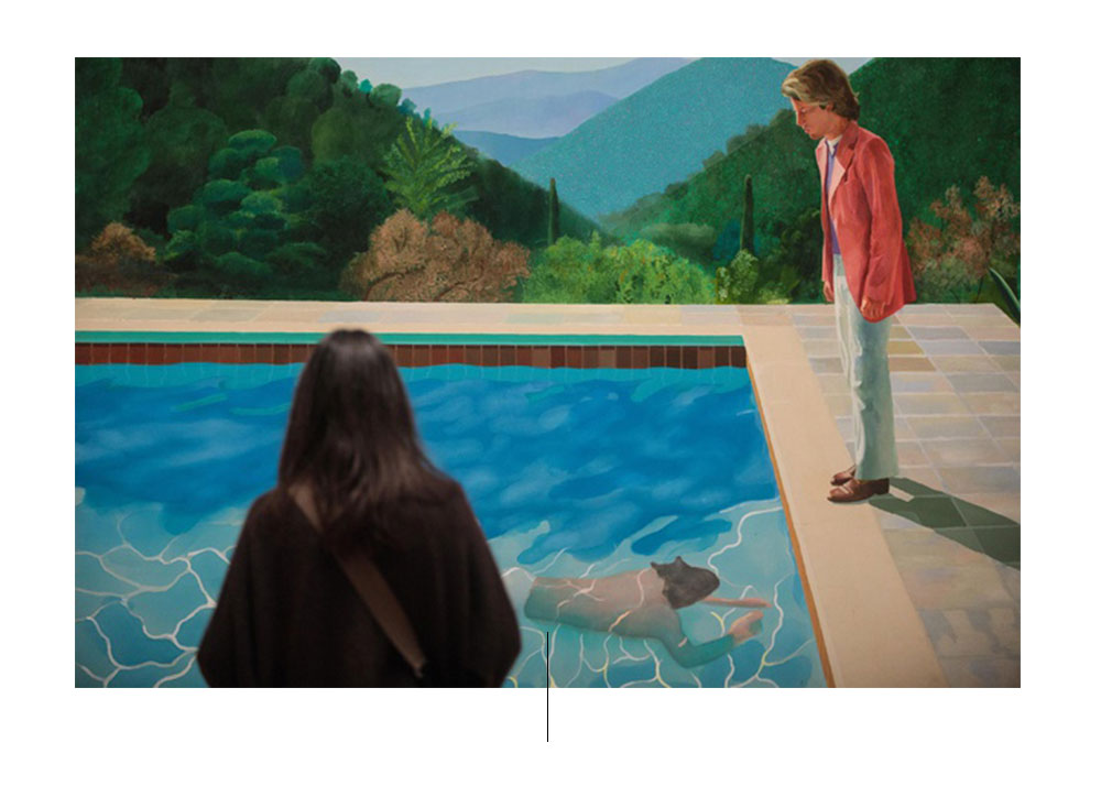 Maleri av kunstneren David Hockney