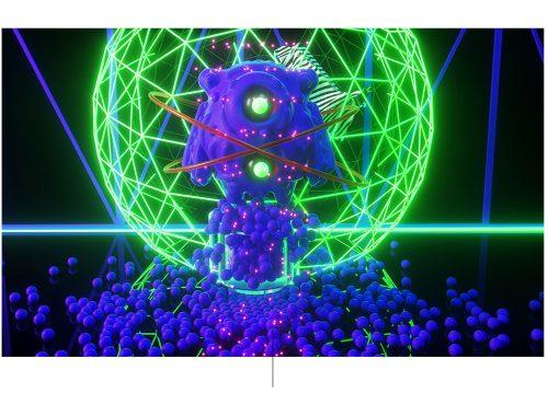 Digitale illustratie groene en paarse galactische Edgar Ripa