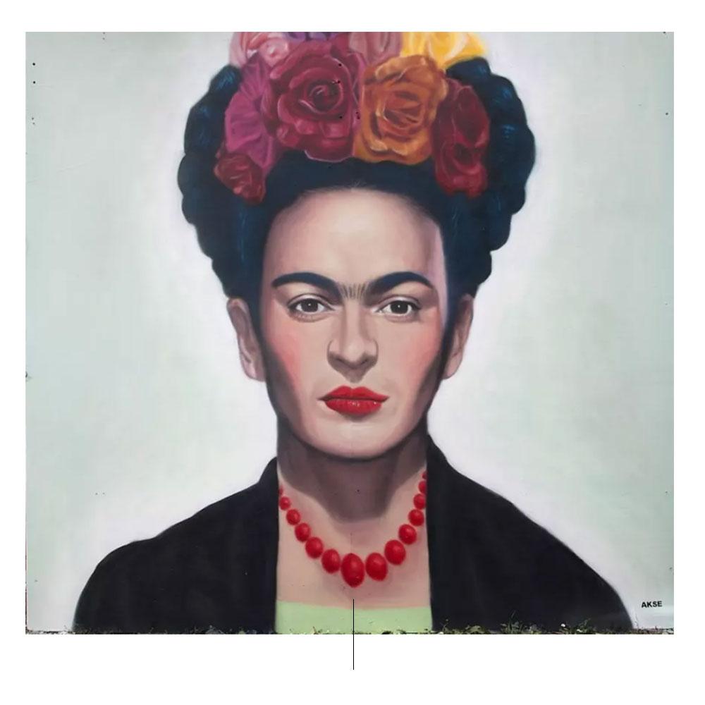 Muurschildering Frida Kahlo