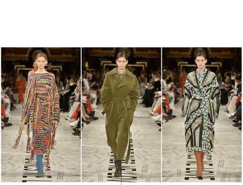 Modelos desfilando diseños de Stella McCartney