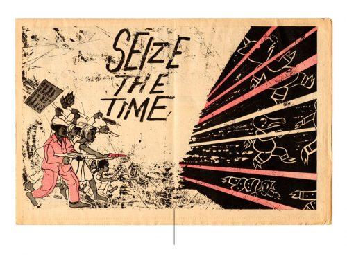 """ilustración con el título """"Seize the time"""""""