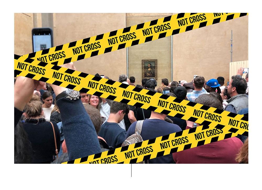 Louvre Museum lukket