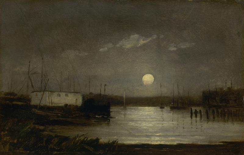 Pintura de la luna de Edward Mitchell
