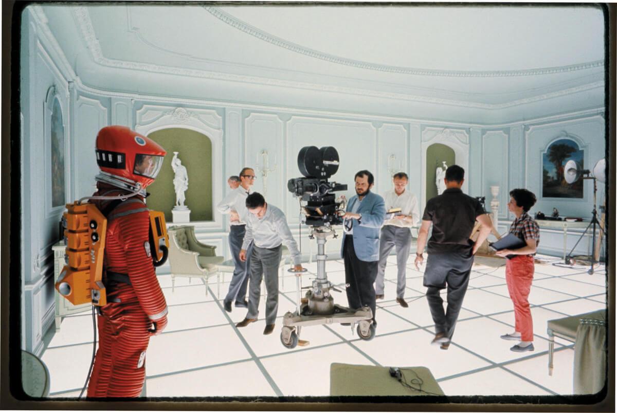 Stanley Kubrick op de set van A Space Odissey