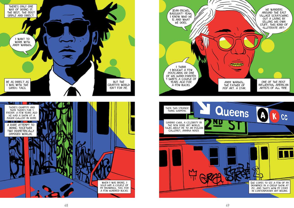 Andy Warhol también destaca en esta novela gráfica que detalla la vida de Basquiat