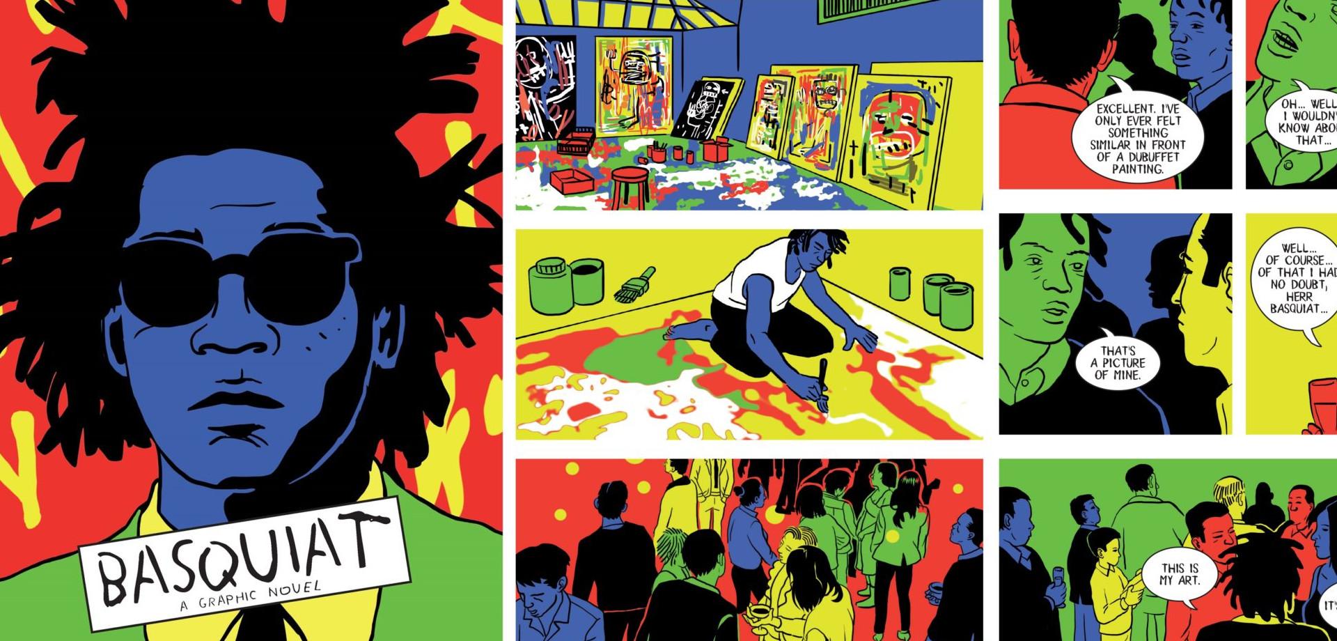 La obra gráfica detalla los claroscuros en la vida de Basquiat
