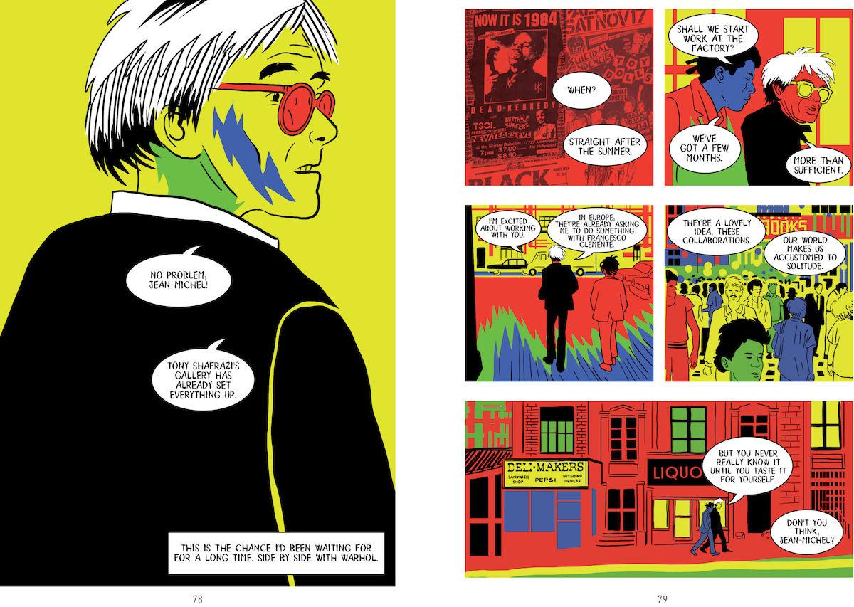 Andy Warhol y Basquiat en la novela gráfica de Paolo Parisi
