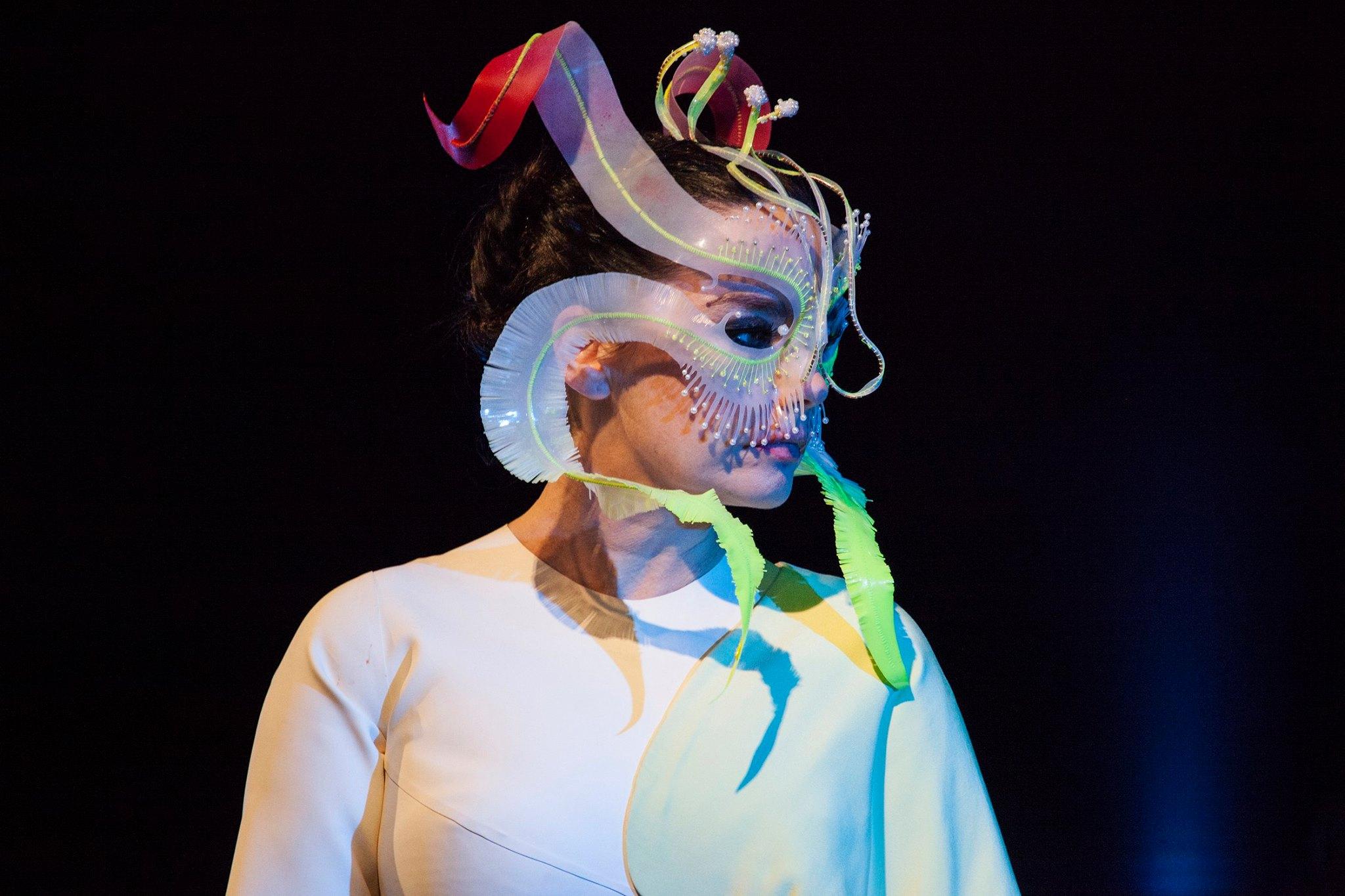 Το έργο του James Merry είναι μοναδικό στις παρουσιάσεις του Björk