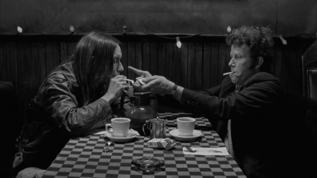 Iggy Pop en Tom Waits in Coffee & Cigarettes door Jim Jarmusch