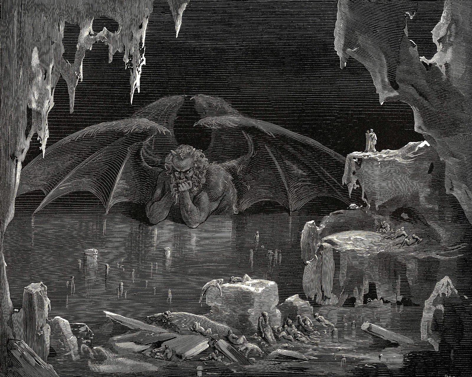Lucifer en el infierno la Divina Comedia
