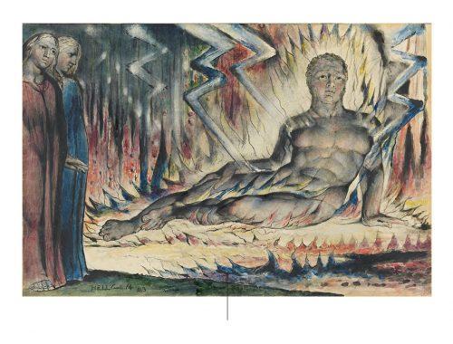 Dante in de hel van de goddelijke komedie