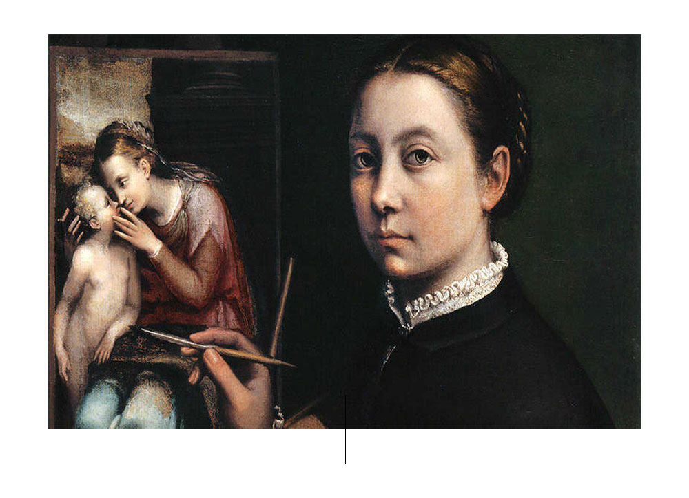 Sofonisba Anguisso autorretrato