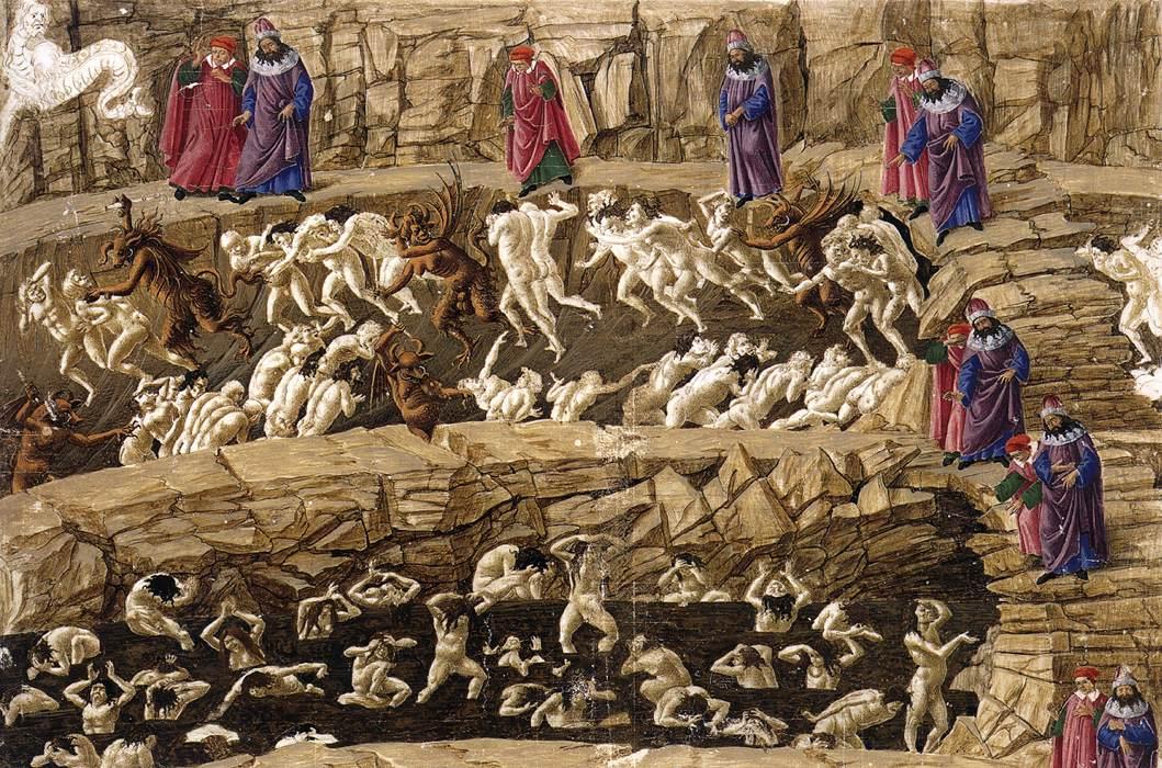 La Divina Comedia Infierno Sandro Botticelli