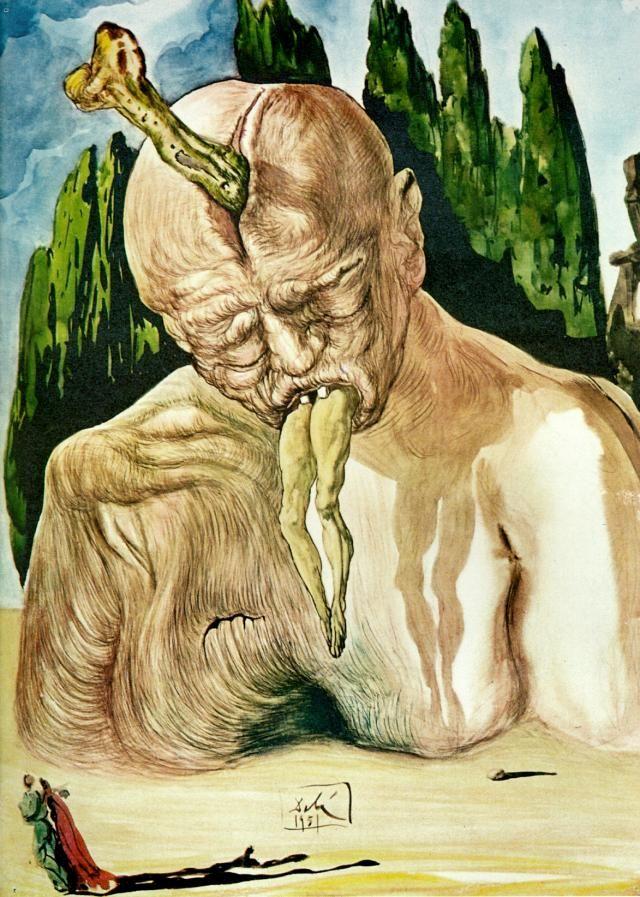 Infierno y purgatorio de Salvador Dalí para la Divina Comedia