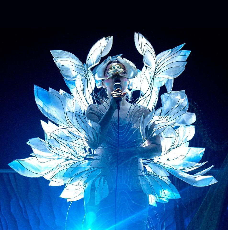 For den siste Cornucopia-turen til Björk tok Iris ansvaret for Sphaera-blomsterkjole.