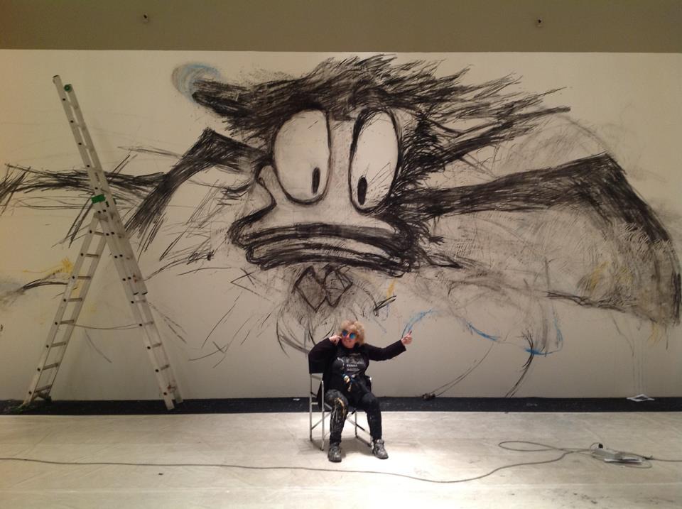 La expresionista Joyce Pensato y Donald