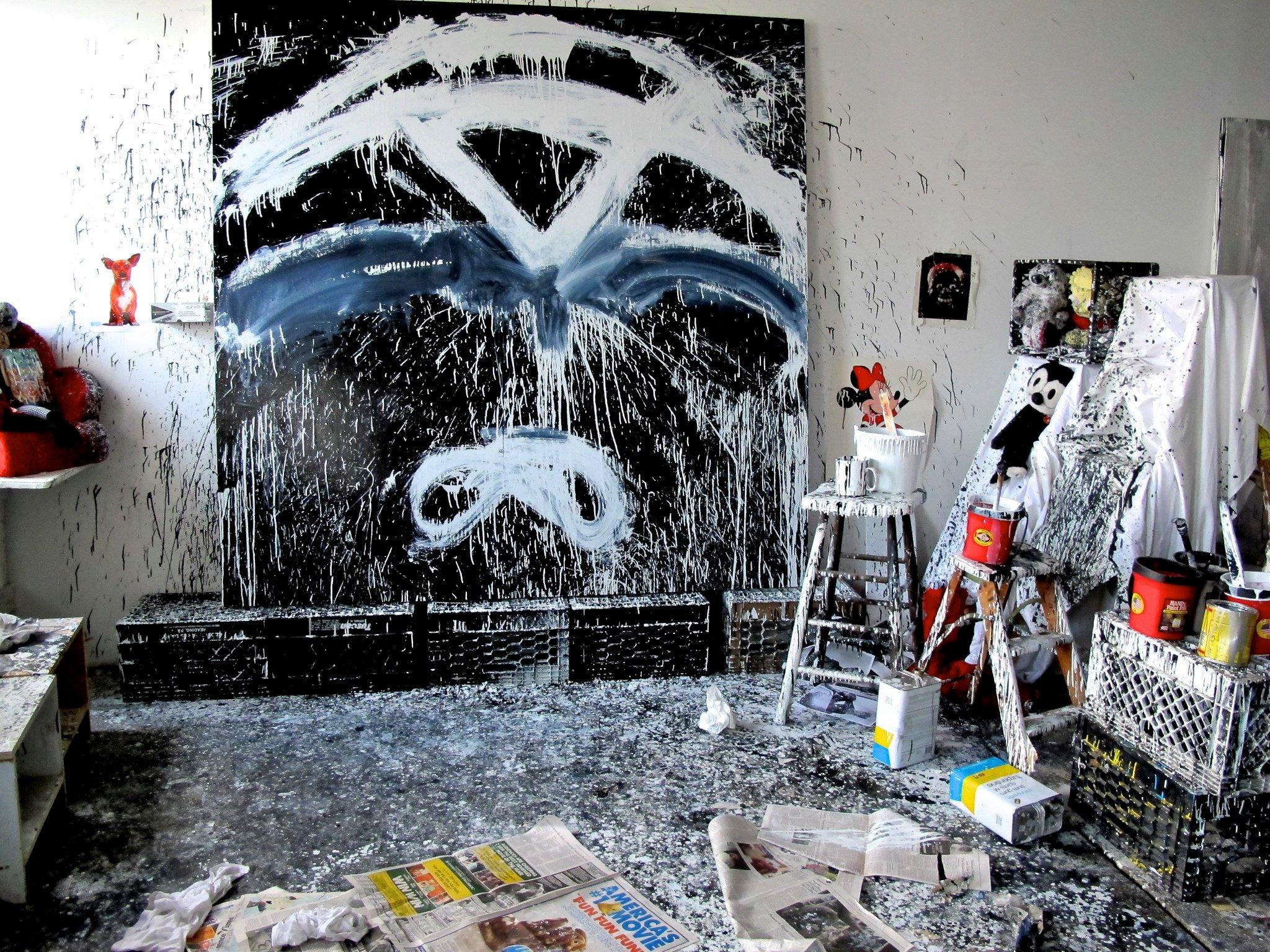 El estudio de la artista neoyorquina Joyce Pensato