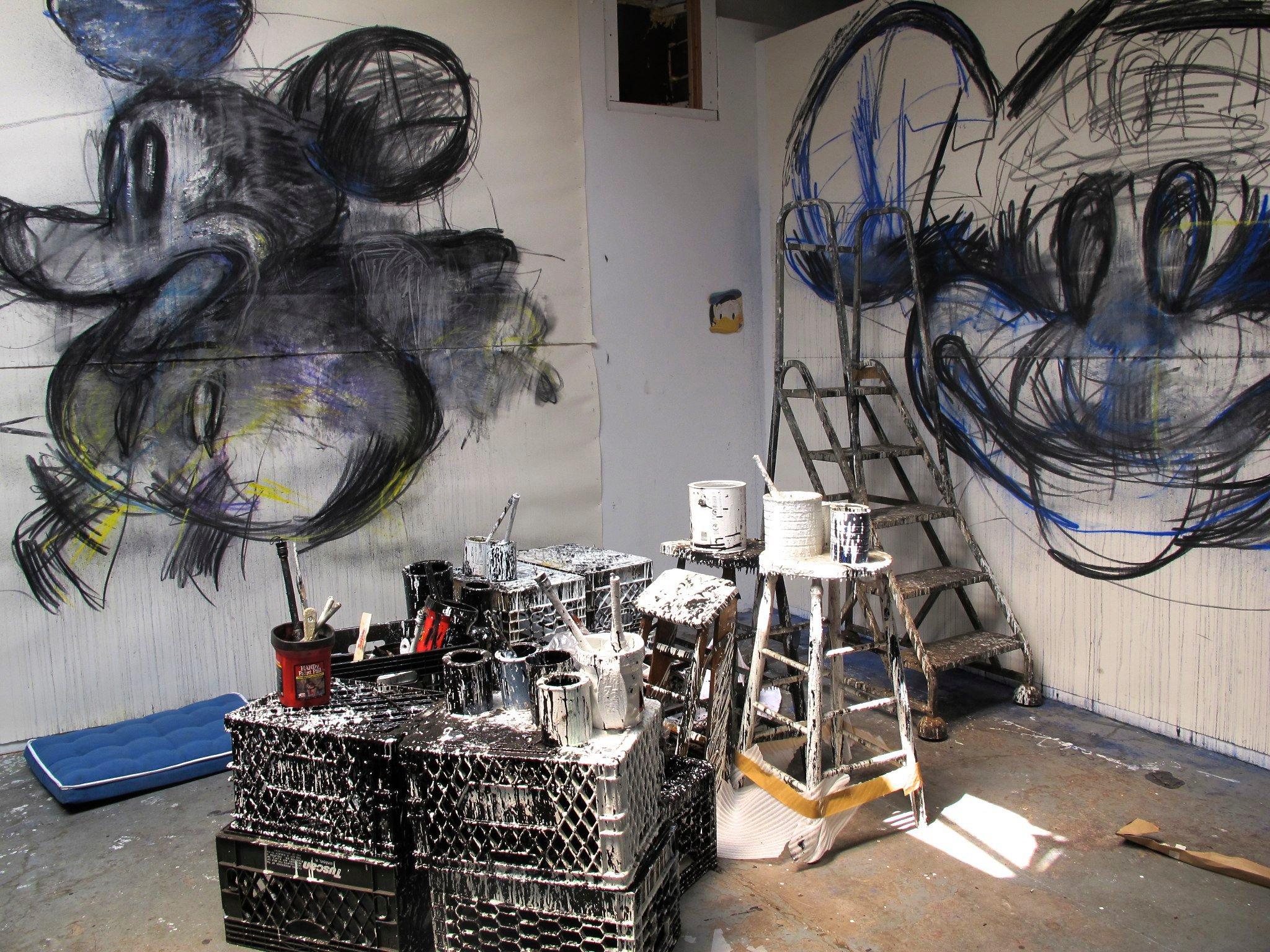 Estudio de Joyce Pensato en Brooklyn