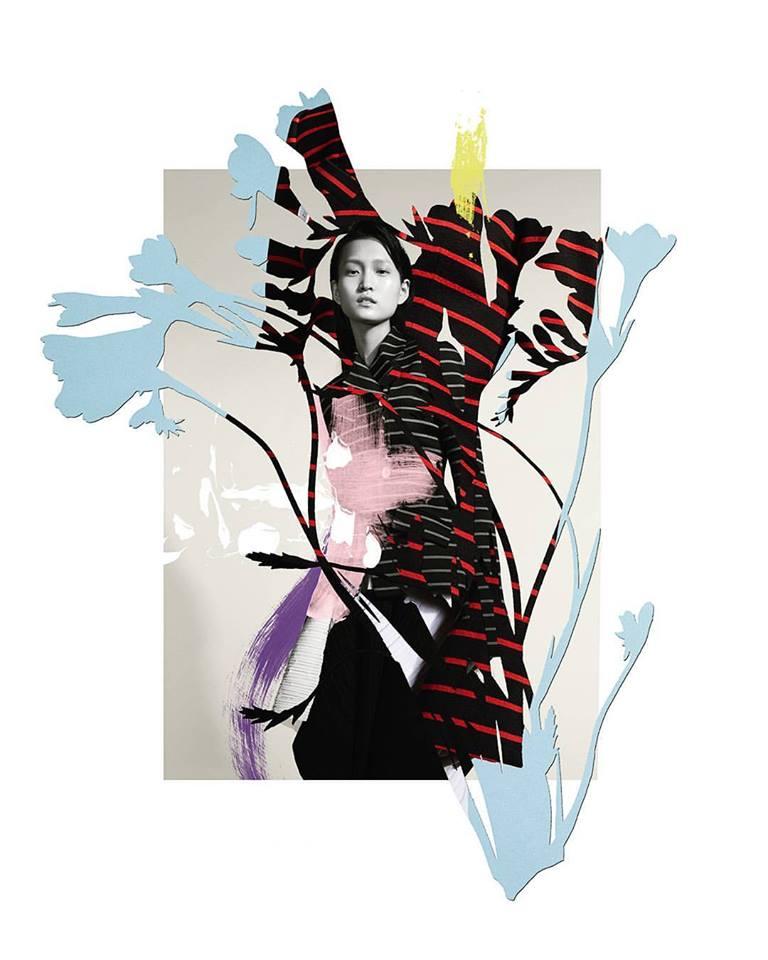 Lane Crawford κολάζ Ernesto Artillo Καλλιτέχνης