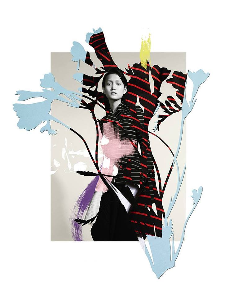 Lane Crawford collage Ernesto Artillo Artist