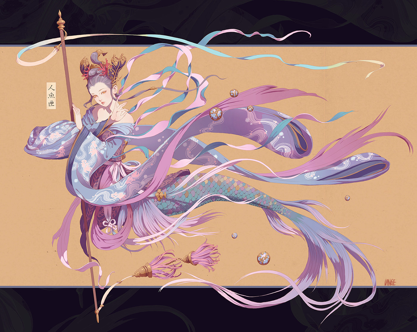 Ilustraciones en 3D y mitología china de Lange