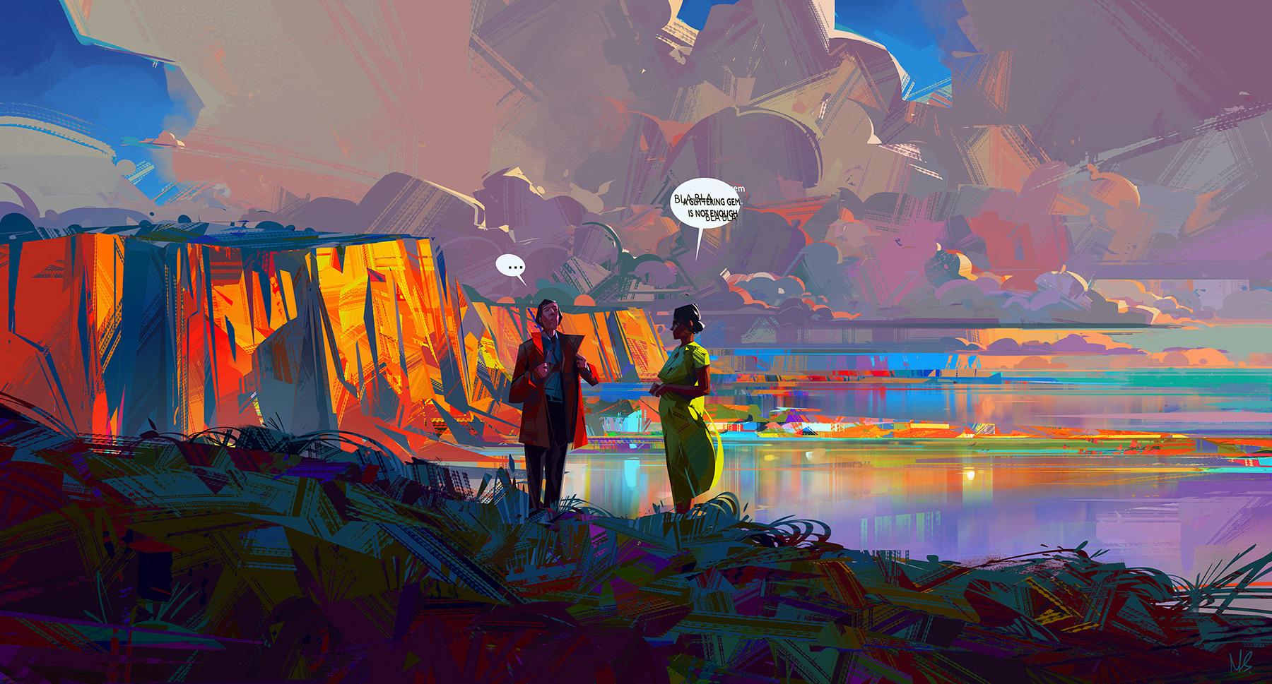 De kleurrijke en geometrische illustraties van Michal Sawtyru