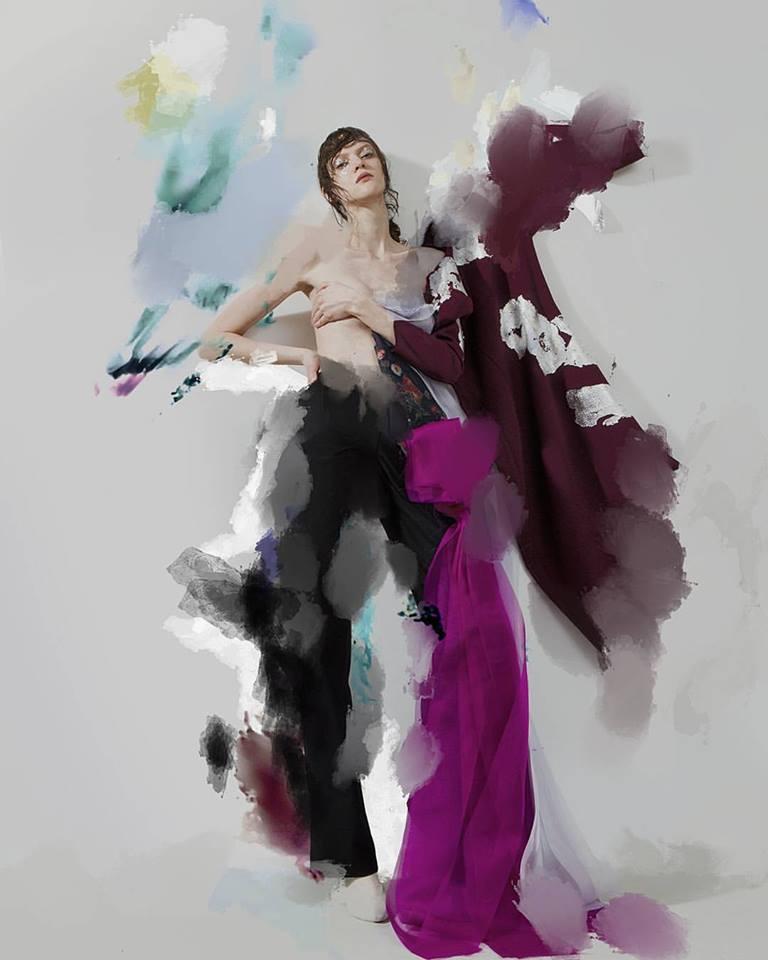 γυναίκα και ζωγραφική Ernesto Artillo κολάζ