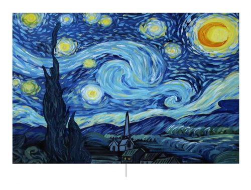 cover van de Sterrennacht door Vincent van Gogh