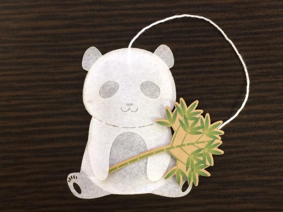 Un adorable té de oso panda de Ocean Tea Bag