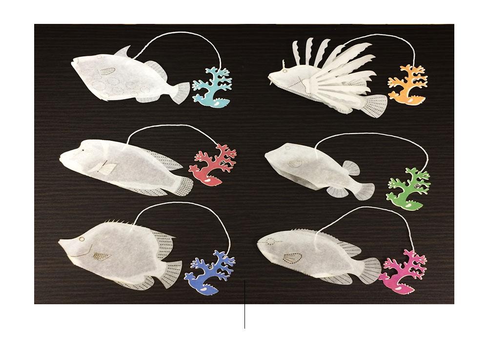 Il marchio giapponese Ocean Tea Bag ispirato alla vita marina