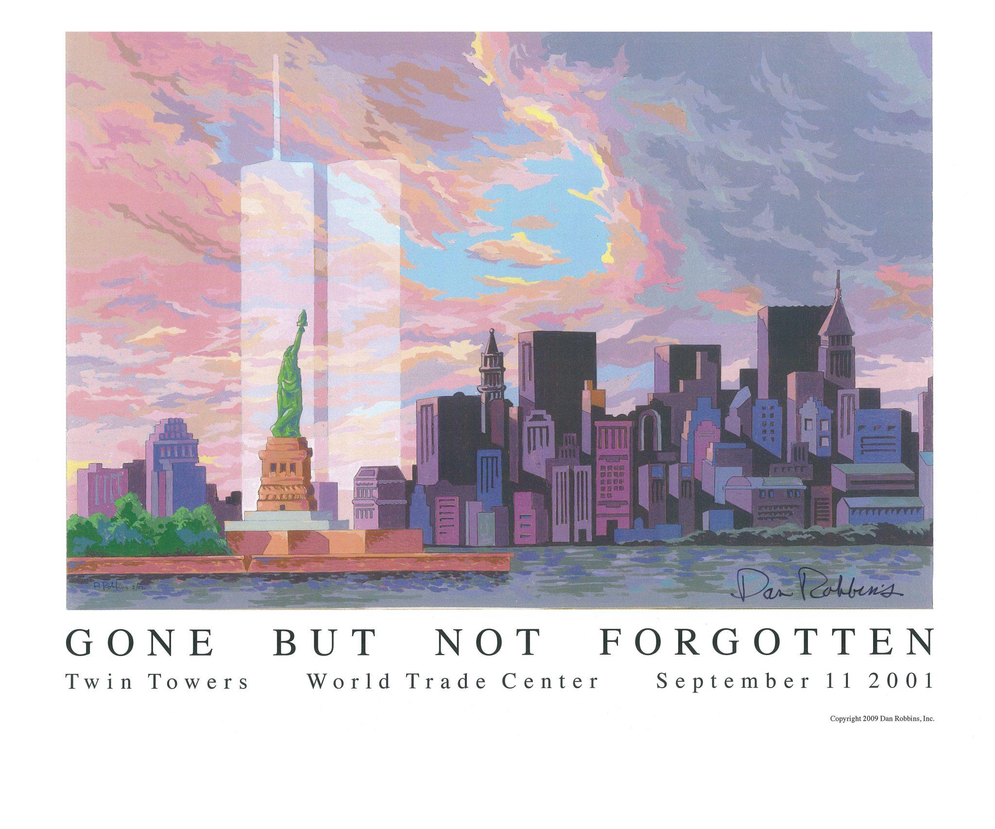 Gone but not forgotten, pintura del 11 de septiembre de Dan Robbins.