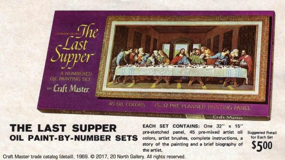 Dipingere sui numeri di L'ultima cena