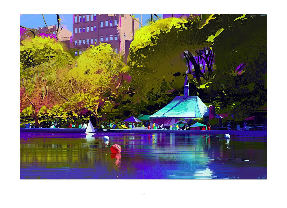 Χρώματα και φιγούρες στις εικονογραφήσεις του Michal Sawtyru
