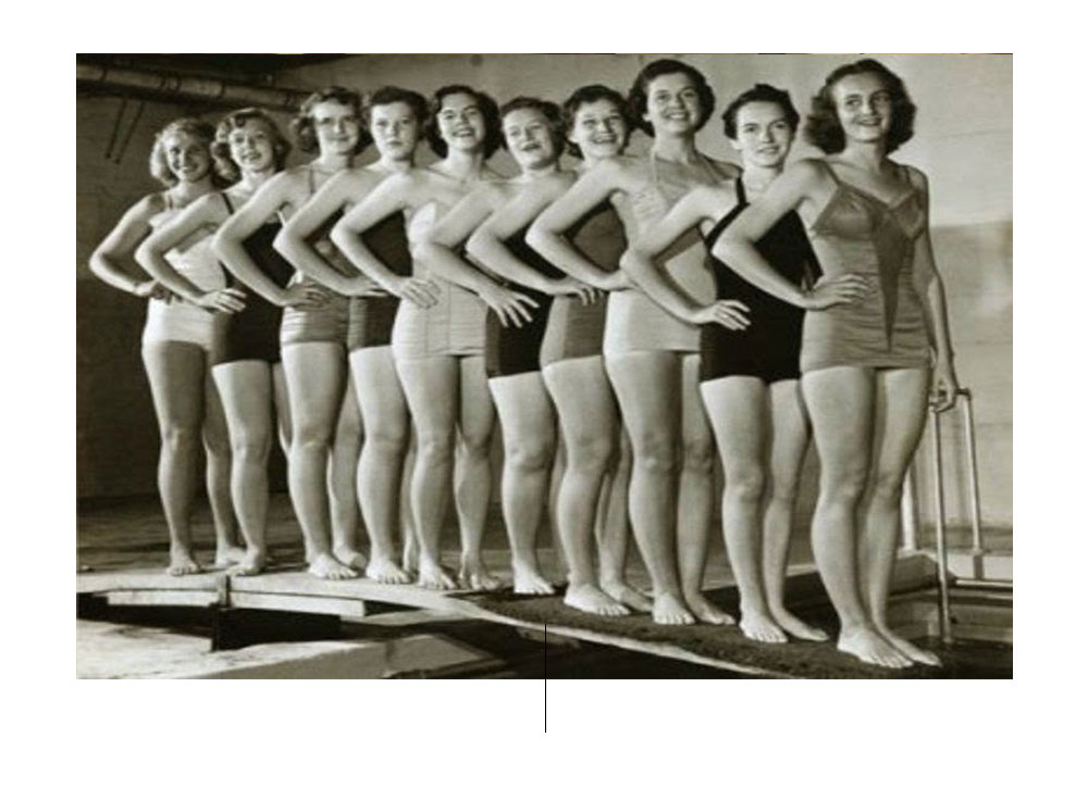 de evolutie van het zwempak