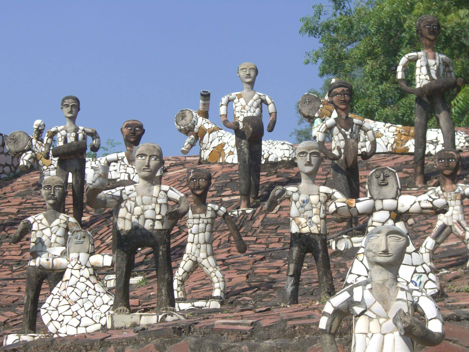 Le sculture di Rock Garden Chandigarth