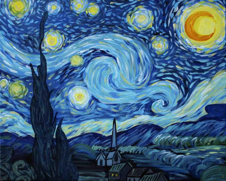 विन्सेन्ट वान गाग द्वारा तारों वाली रात