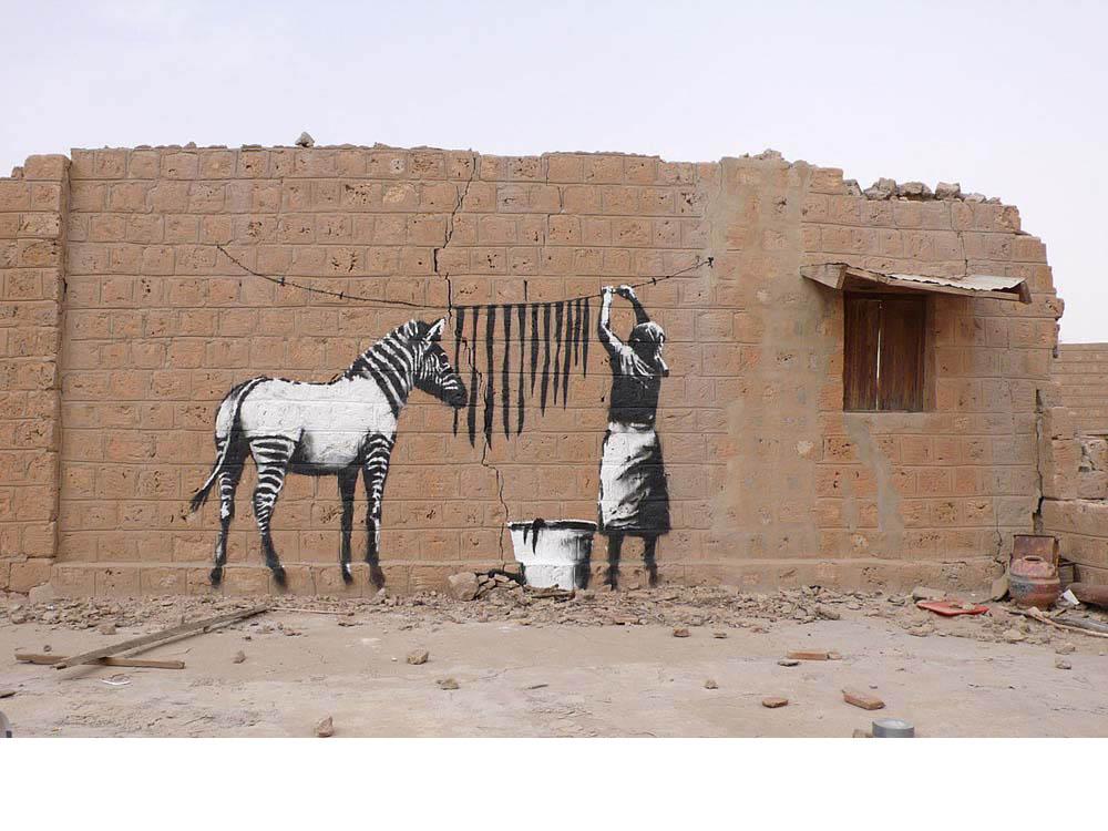 从Banksy的想象中汲取的艺术