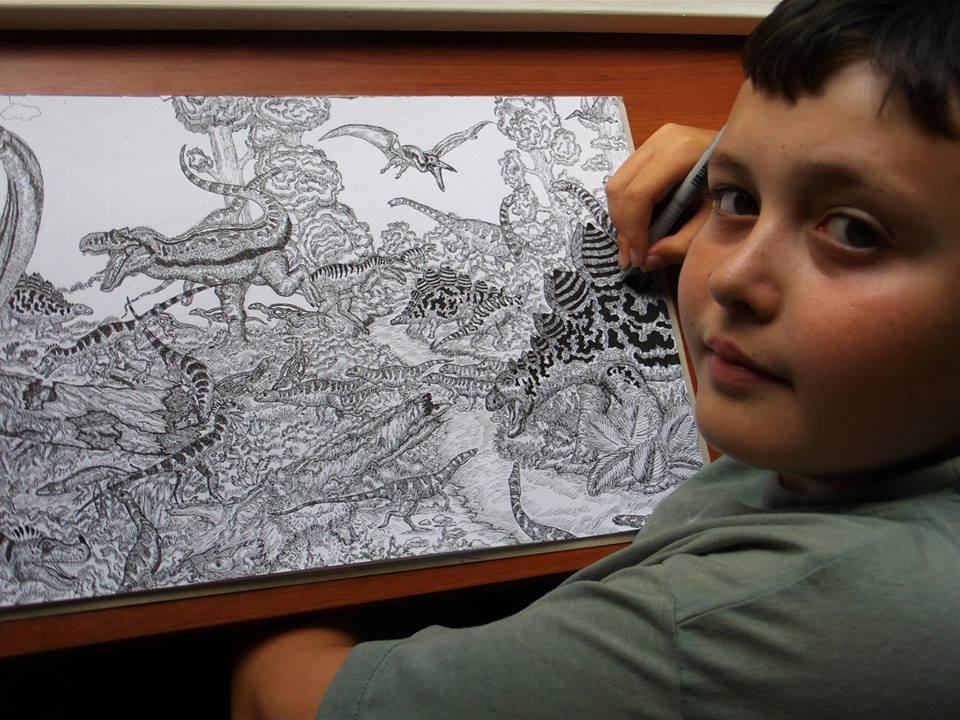 De dinosaurussen, een van de passies van Dusan Krtolica