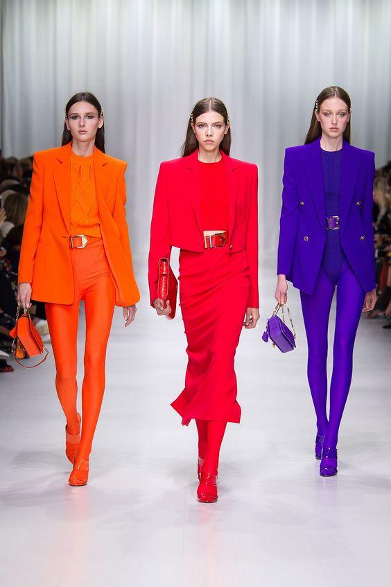 Los colores juegan un papel fundamental sobre las pasarelas