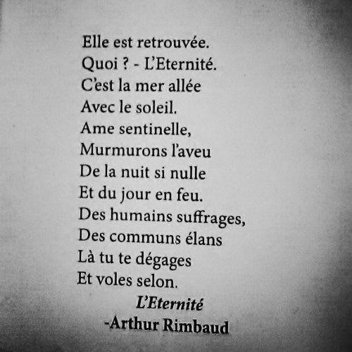 Het gedicht van Arthur Rimbaud