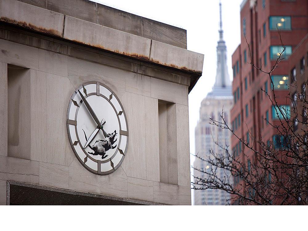 El tiempo en una pieza de Banksy