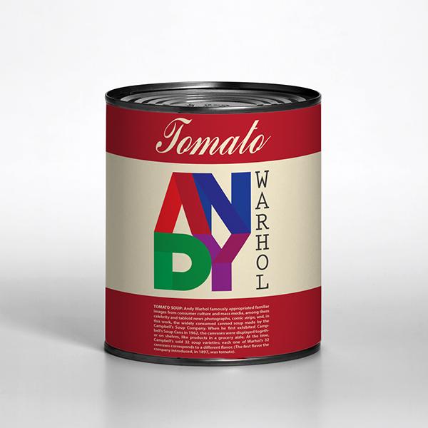 logo del marchio andy warhol di milton omena