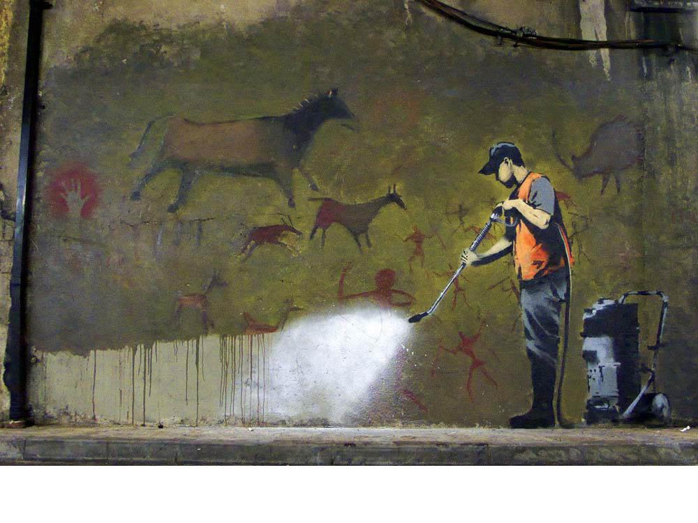 讽刺的是Banksy的作品