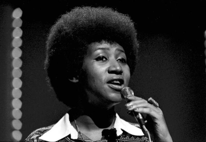 El afro de la cantante Aretha Franklin