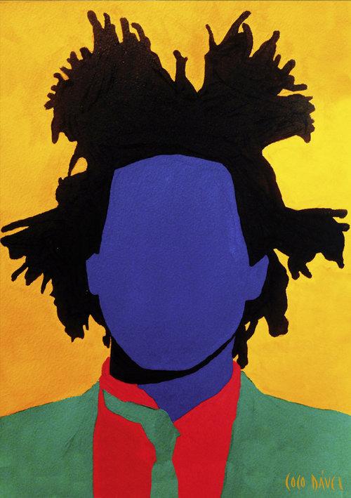 Basquiat από τη σειρά Faceless από τον Coco Dávez