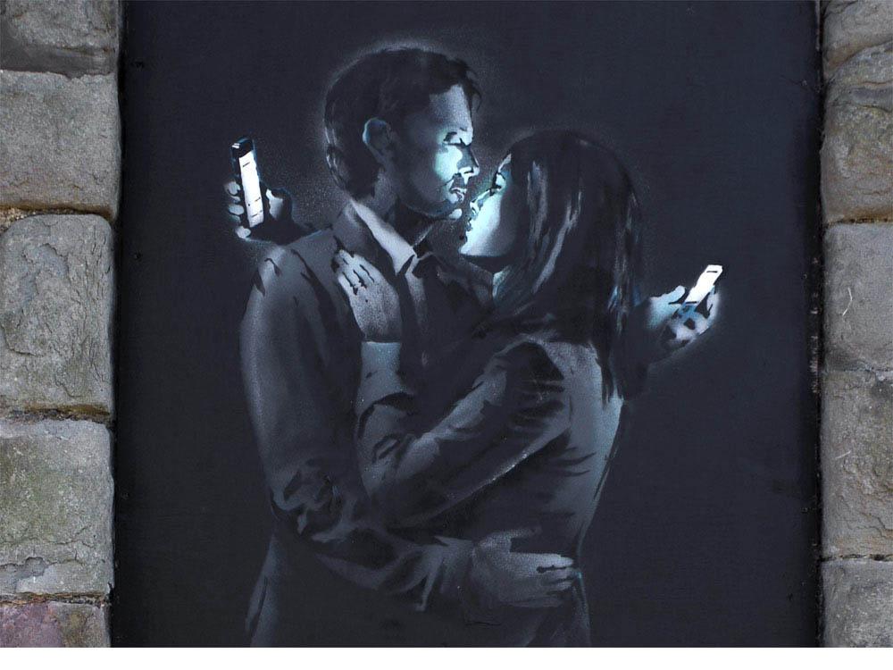 Crítica de Banksy a la sociedad moderna.
