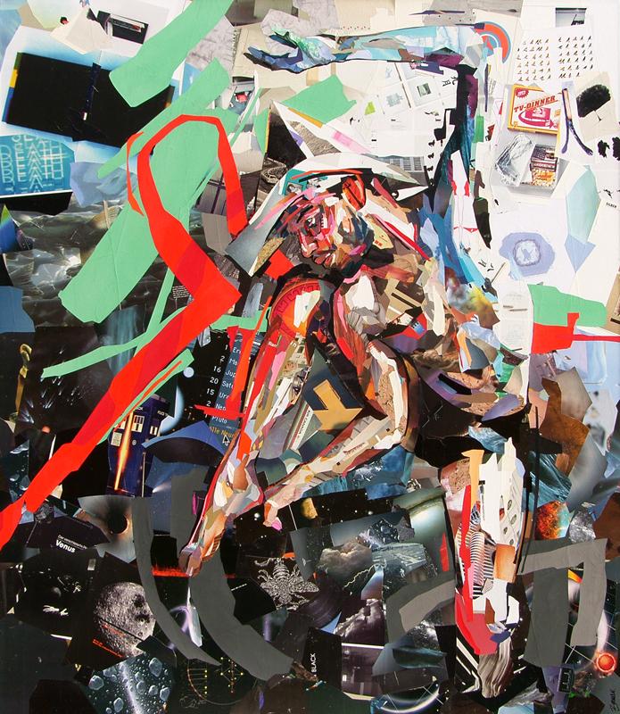 Kosmonaut-collage door Patrick Bremer
