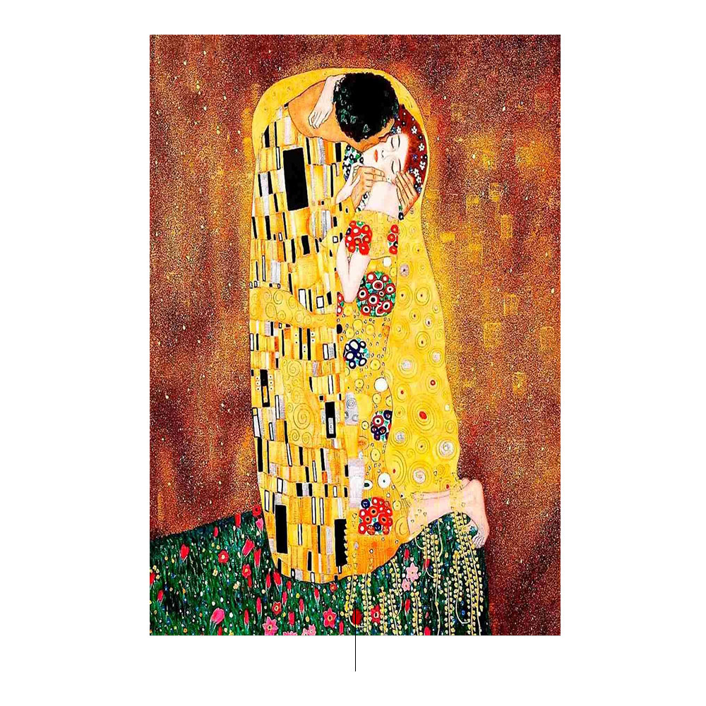 Klimt's kiss on the cover