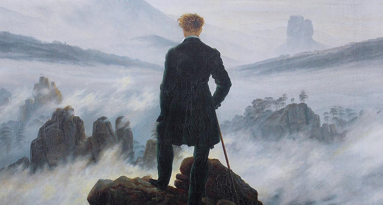 El caminante sobre el mar de nubes de Caspar David Friedrich